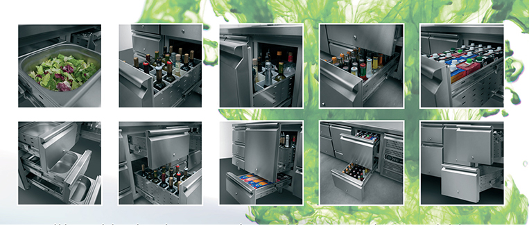 INOX new line of refrigerated counters, with innovative function.